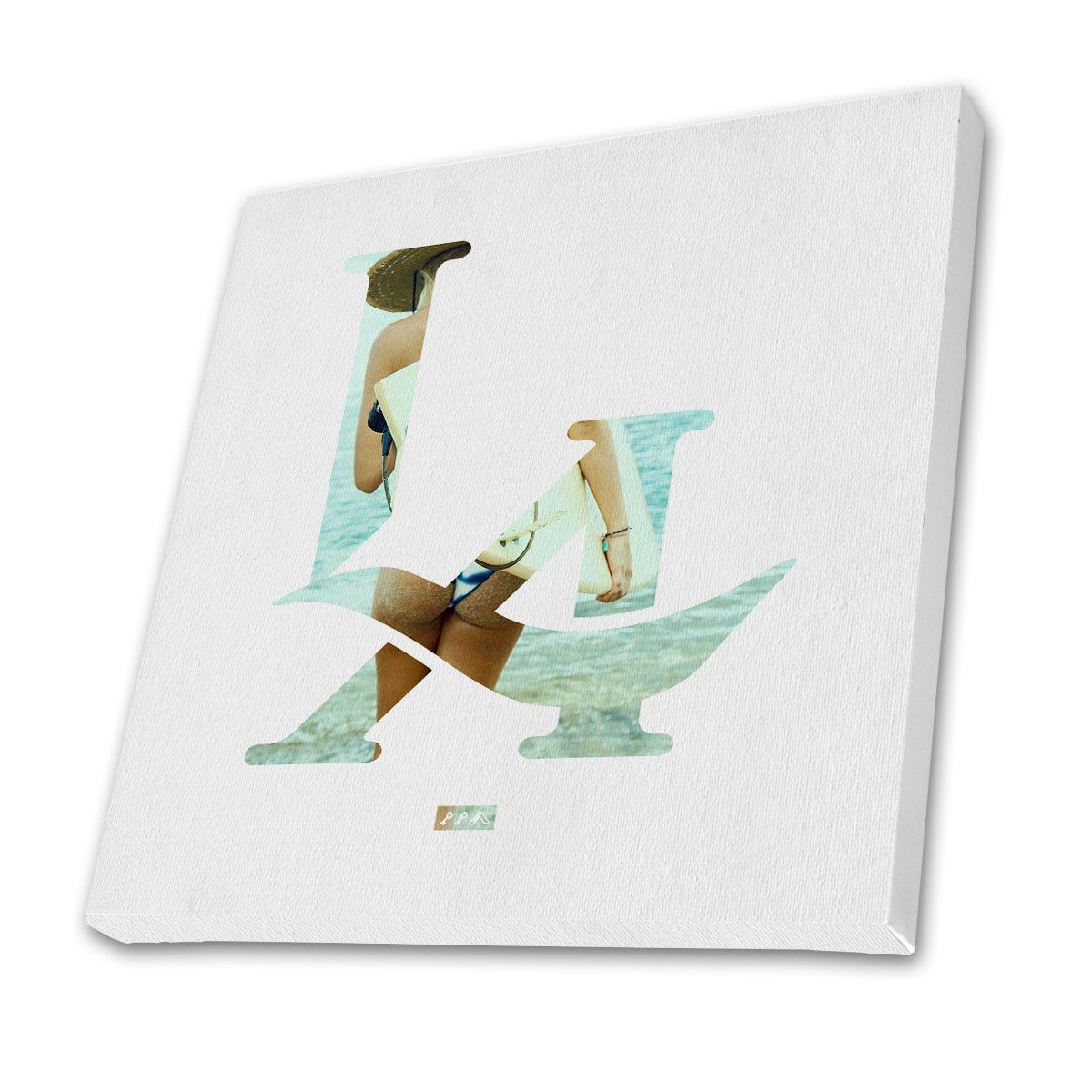 """""""L.A. surfs up"""" LA logo los angeles bikini butt canvas prints by kikicutt"""
