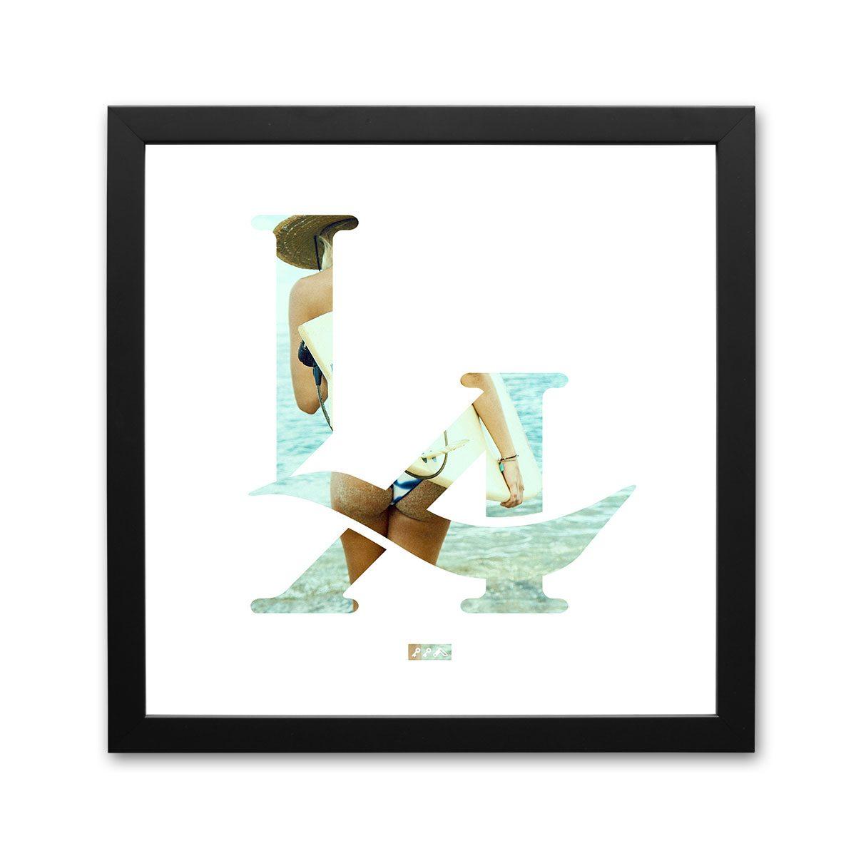 LA logo los angeles surfs up bikini butt framed prints by kikicutt
