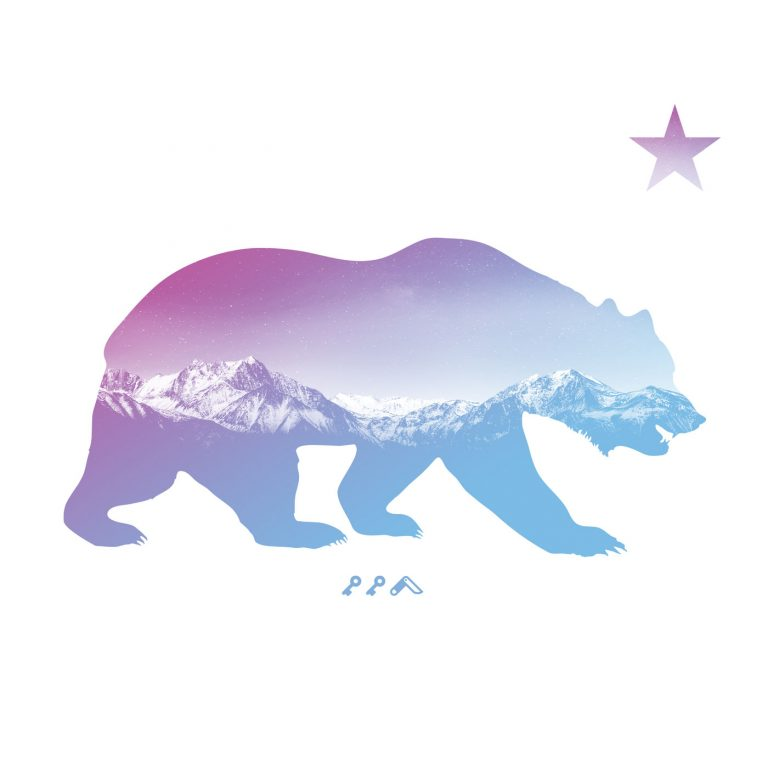 """BARE MOUNTAINS"" california bear by kikicutt"