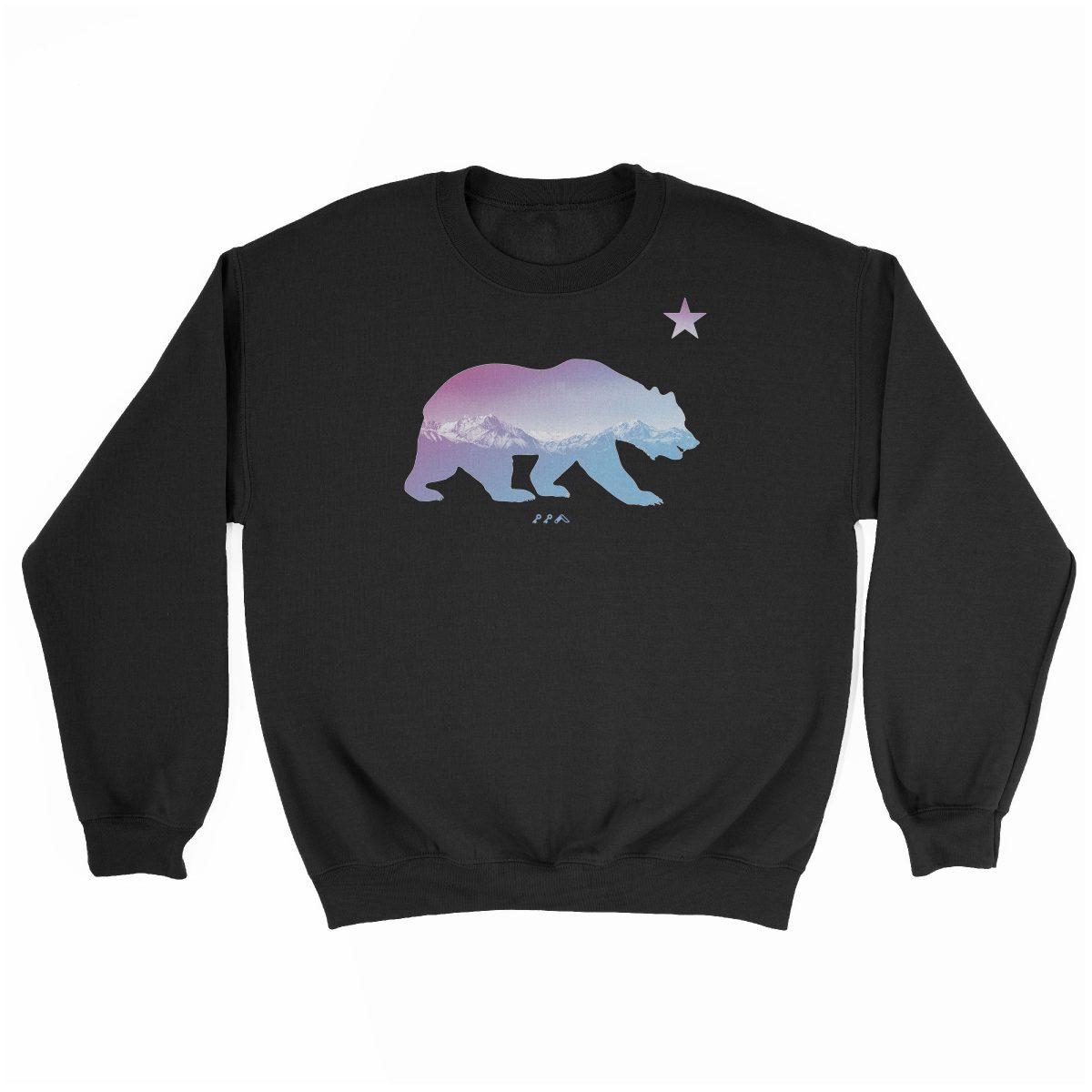 """BARE MOUNTAINS"" california bear sweatshirts in black by kikicutt"