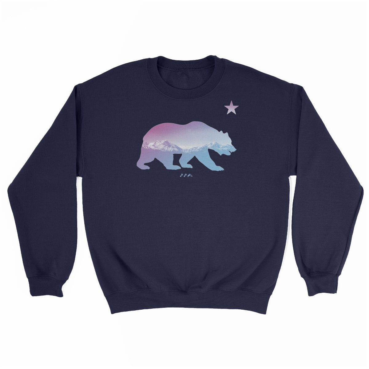 """BARE MOUNTAINS"" california bear sweatshirts in navy by kikicutt"