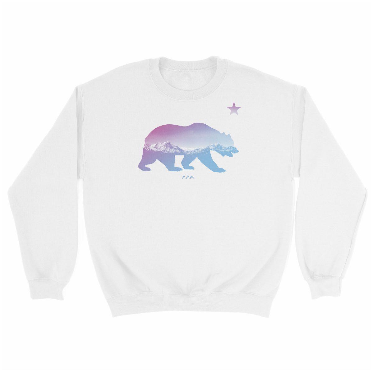 """BARE MOUNTAINS"" california bear sweatshirts in white by kikicutt"