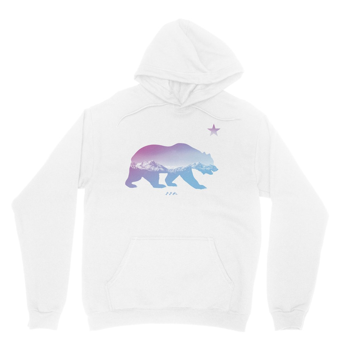 """BARE MOUNTAINS"" california bear hoodies in white by kikicutt"