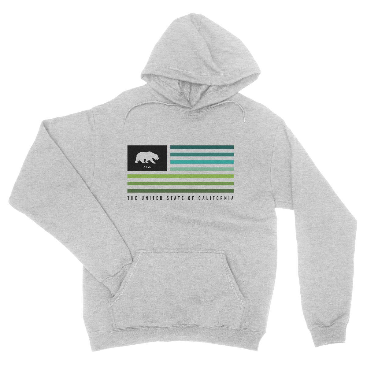 retro cali flag summer music festival hoodie in grey by kikicutt