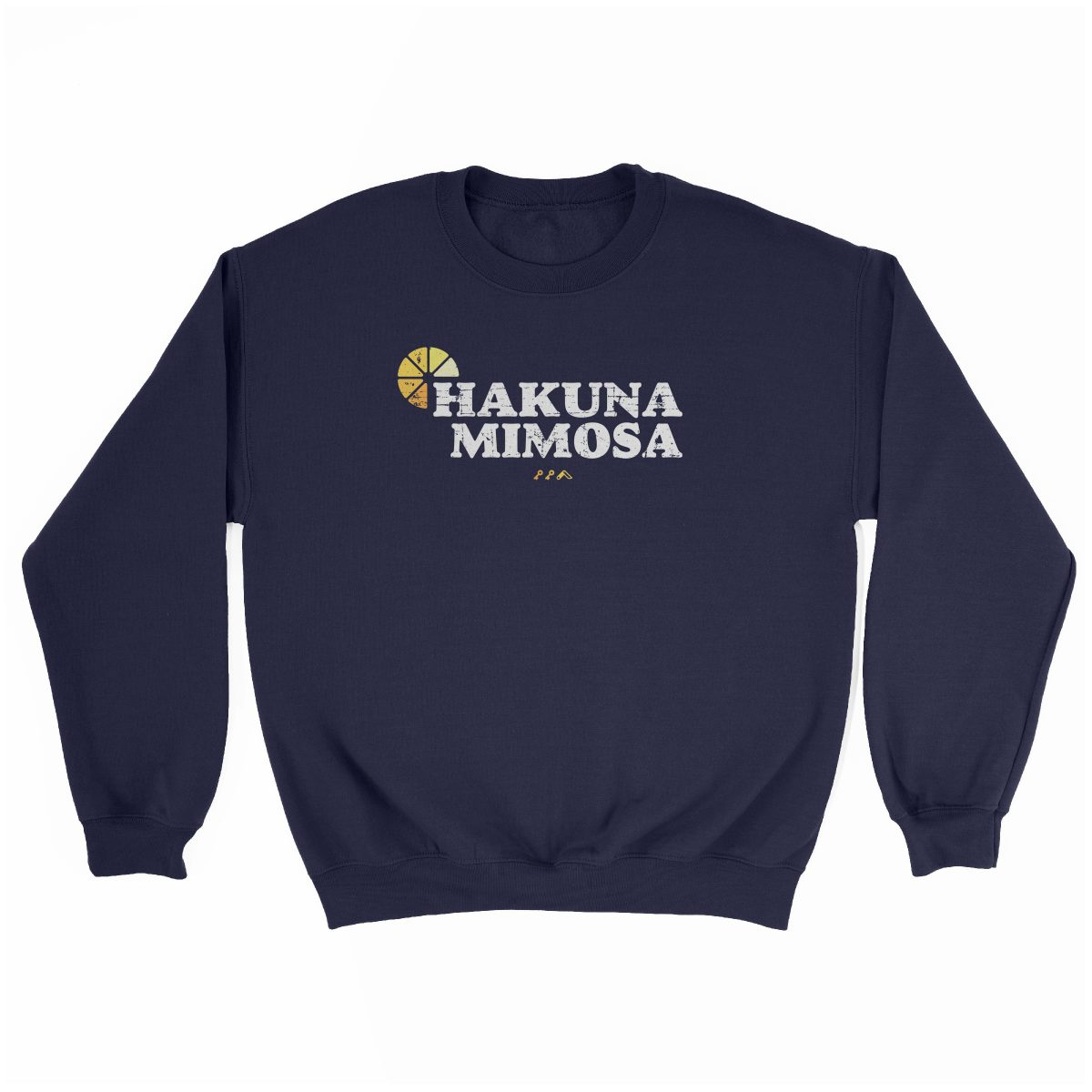 HAKUNA MIMOSA funny sunday funday brunch sweatshirt in navy at kikicutt.com