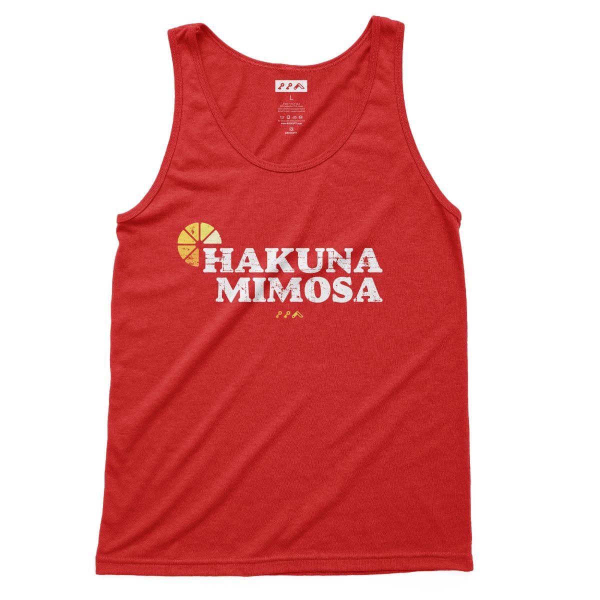 HAKUNA MIMOSA sunday funday drinking tank tops in red at kikicutt.com