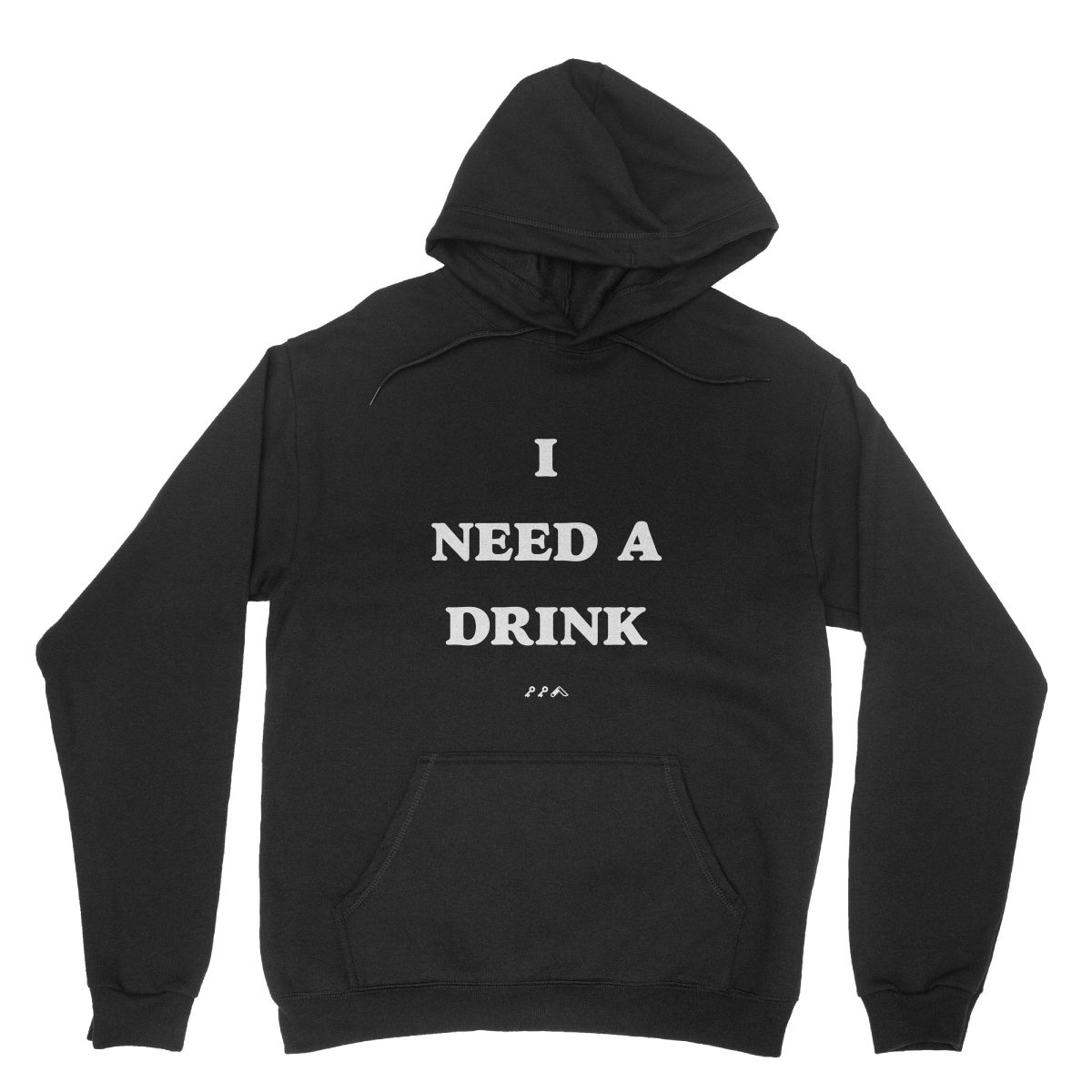 I NEED A DRINK sunday funday drinking hoodie in black