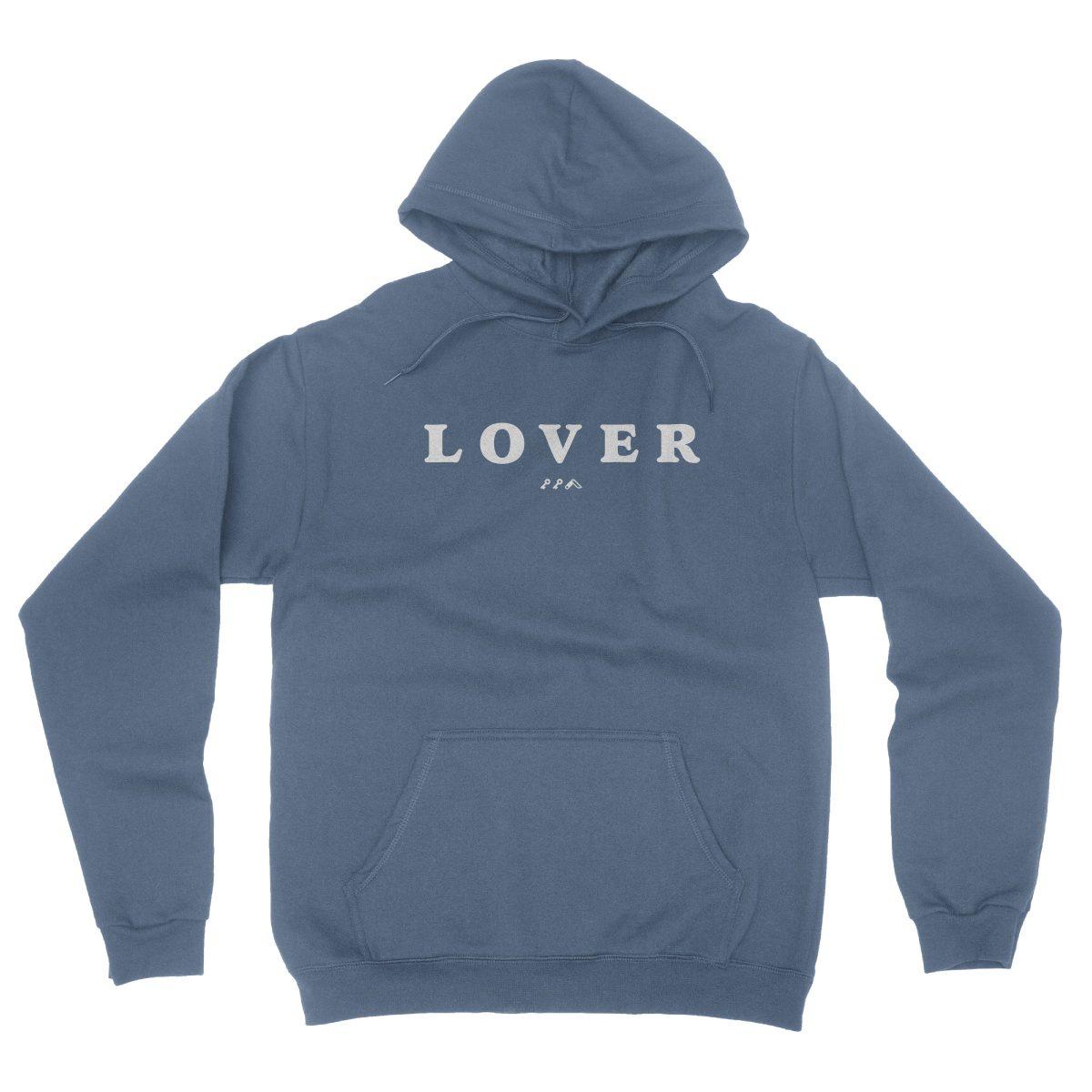 LOVER soft unisex hoodie in indigo by kikicutt