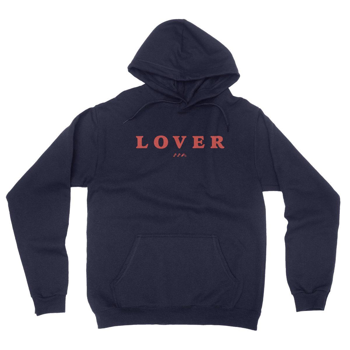 LOVER soft unisex hoodie in navy by kikicutt