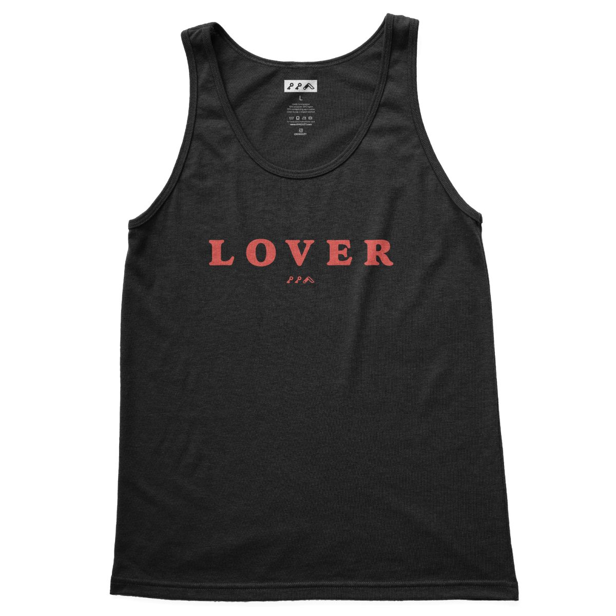 LOVER soft tank top in black at kikicutt.com