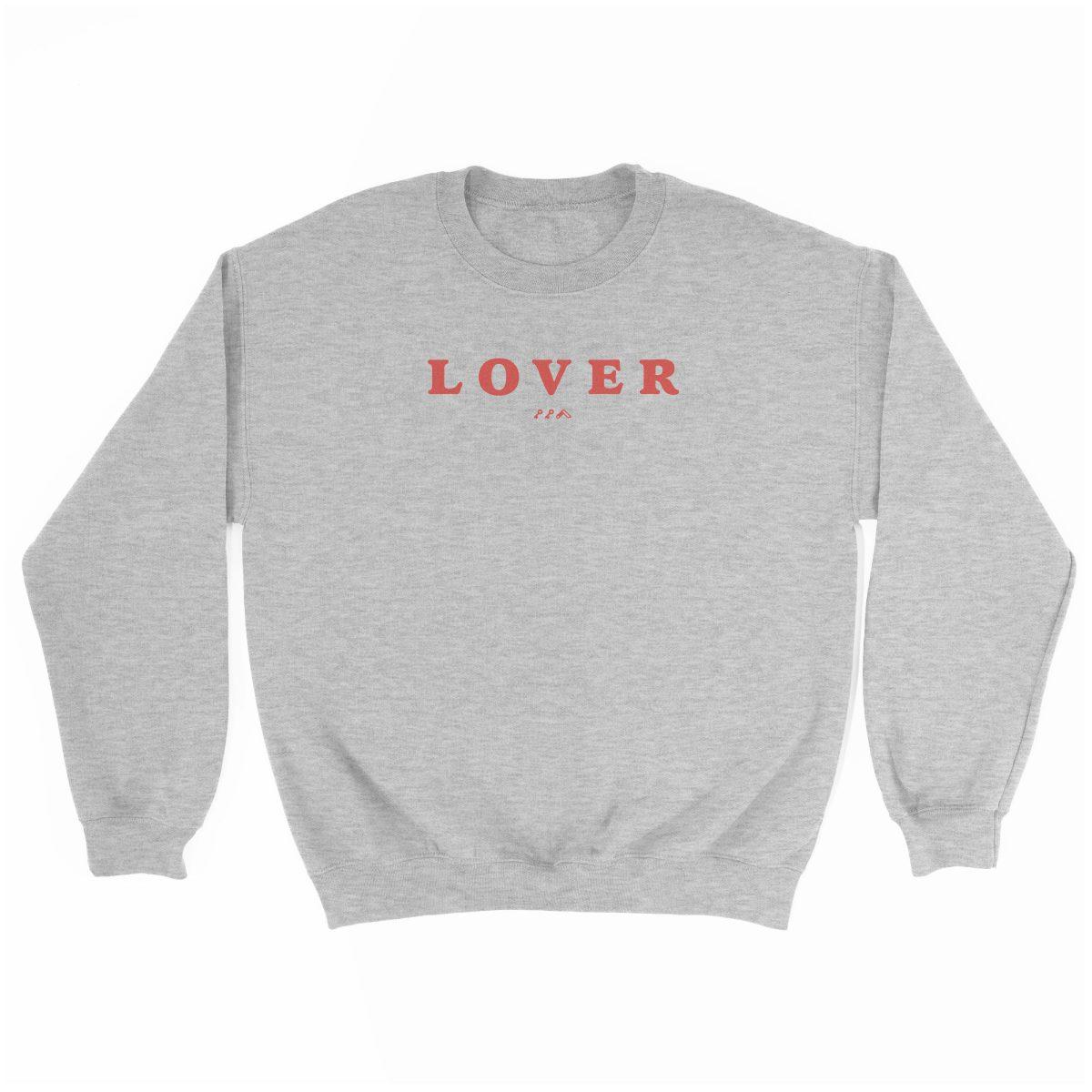 LOVER super soft unisex sweatshirt in grey at kikicutt.com