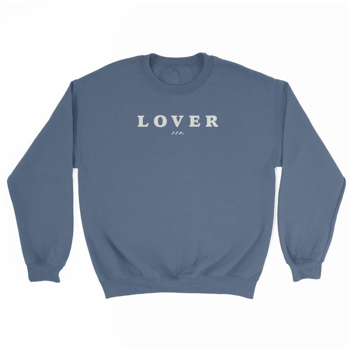 LOVER super soft unisex sweatshirt in indigo at kikicutt.com