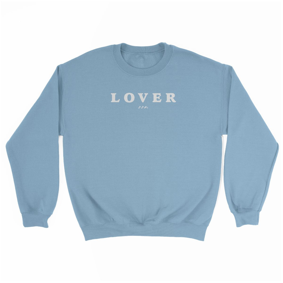 LOVER super soft unisex sweatshirt in light blue at kikicutt.com