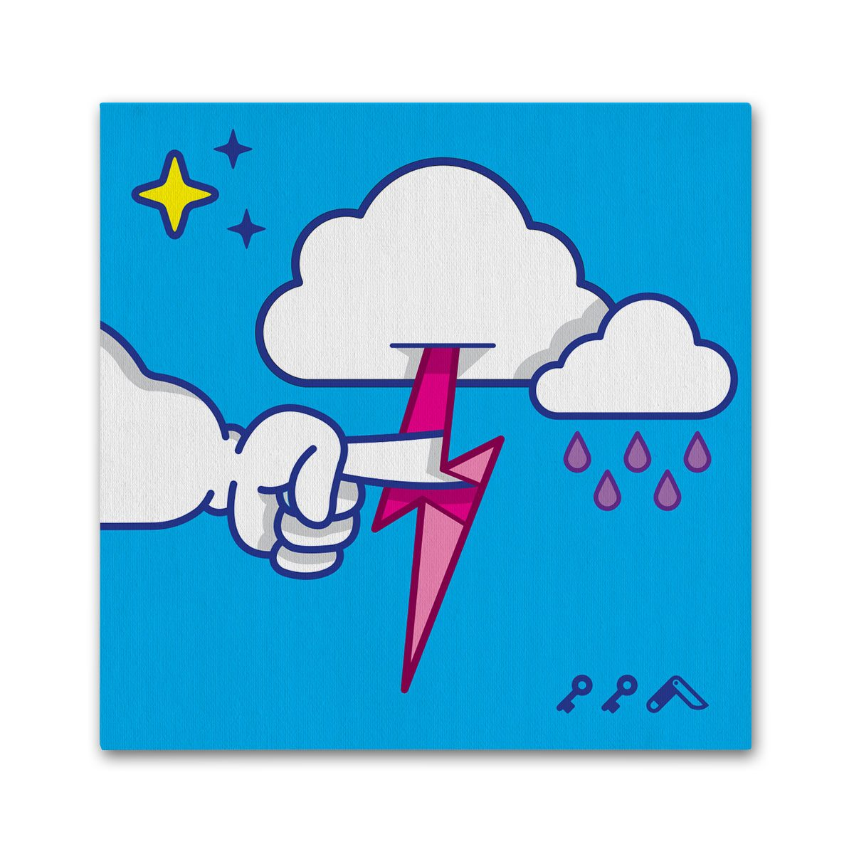 """""""MUTUAL CLOUDSENT"""" funny adult cartoon animation style canvas prints"""