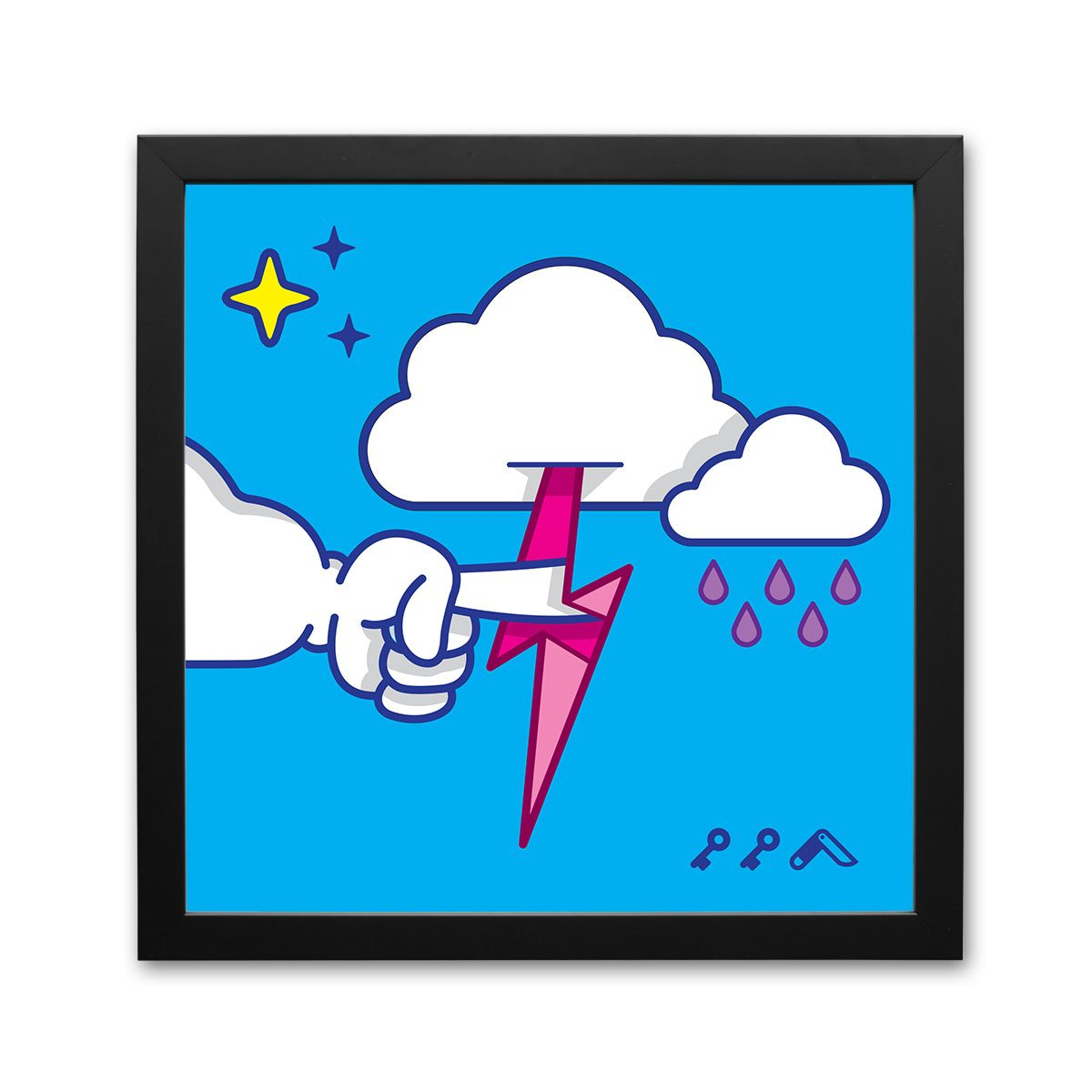 """""""MUTUAL CLOUDSENT"""" funny adult cartoon animation style frame prints"""