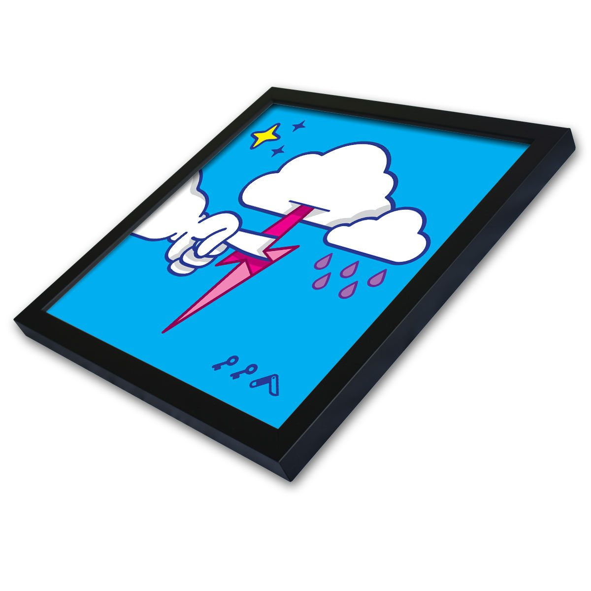 """MUTUAL CLOUDSENT"" funny adult cartoon animation style frame prints"