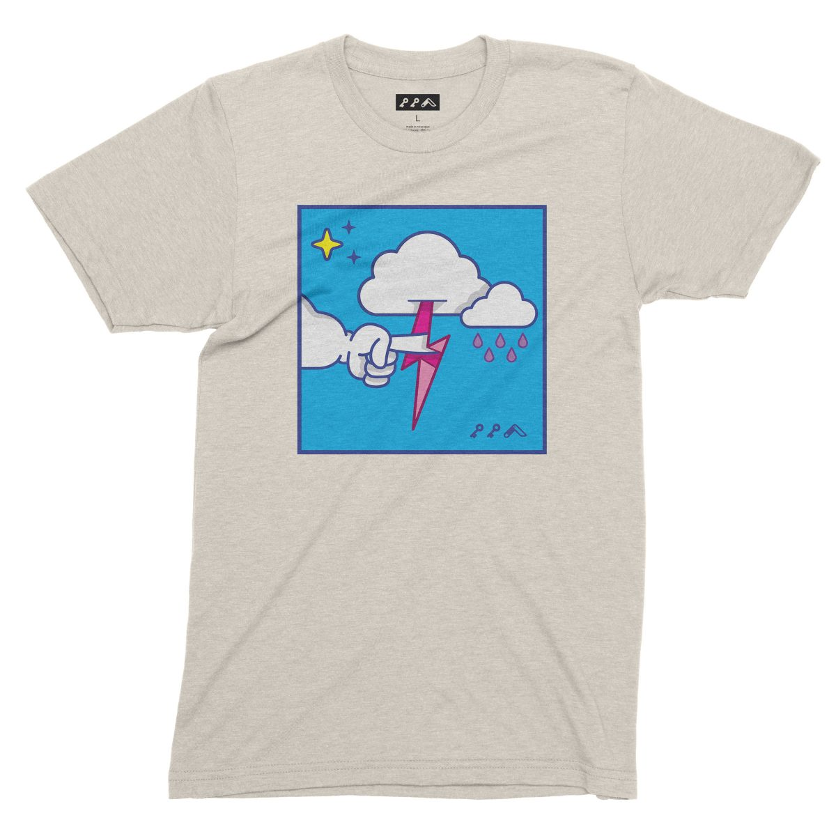 """""""MUTUAL CLOUDSENT"""" funny adult cartoon animation style tee in oatmeal by kikicutt"""