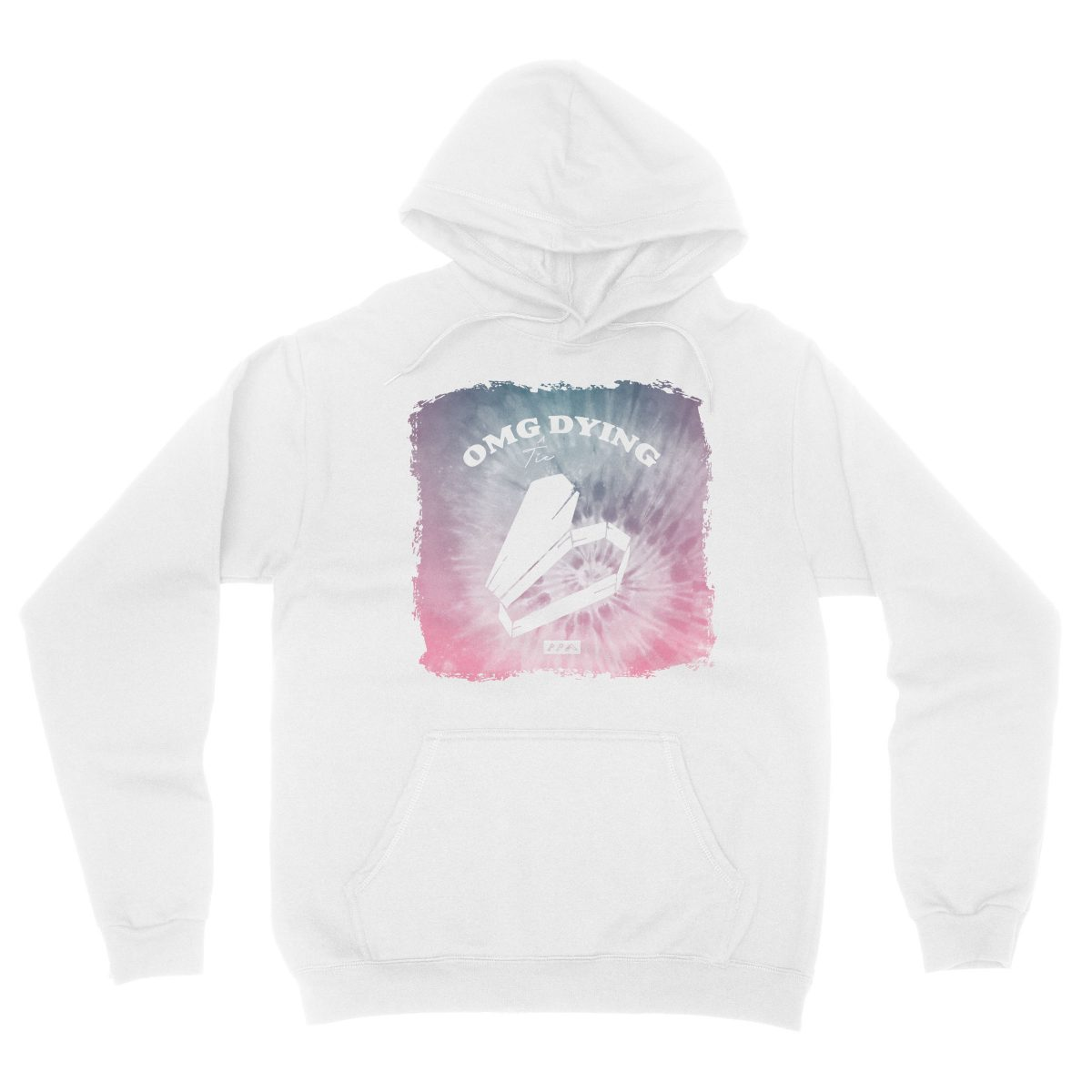 OMG DYING tie dye music festival funny hoodies in white