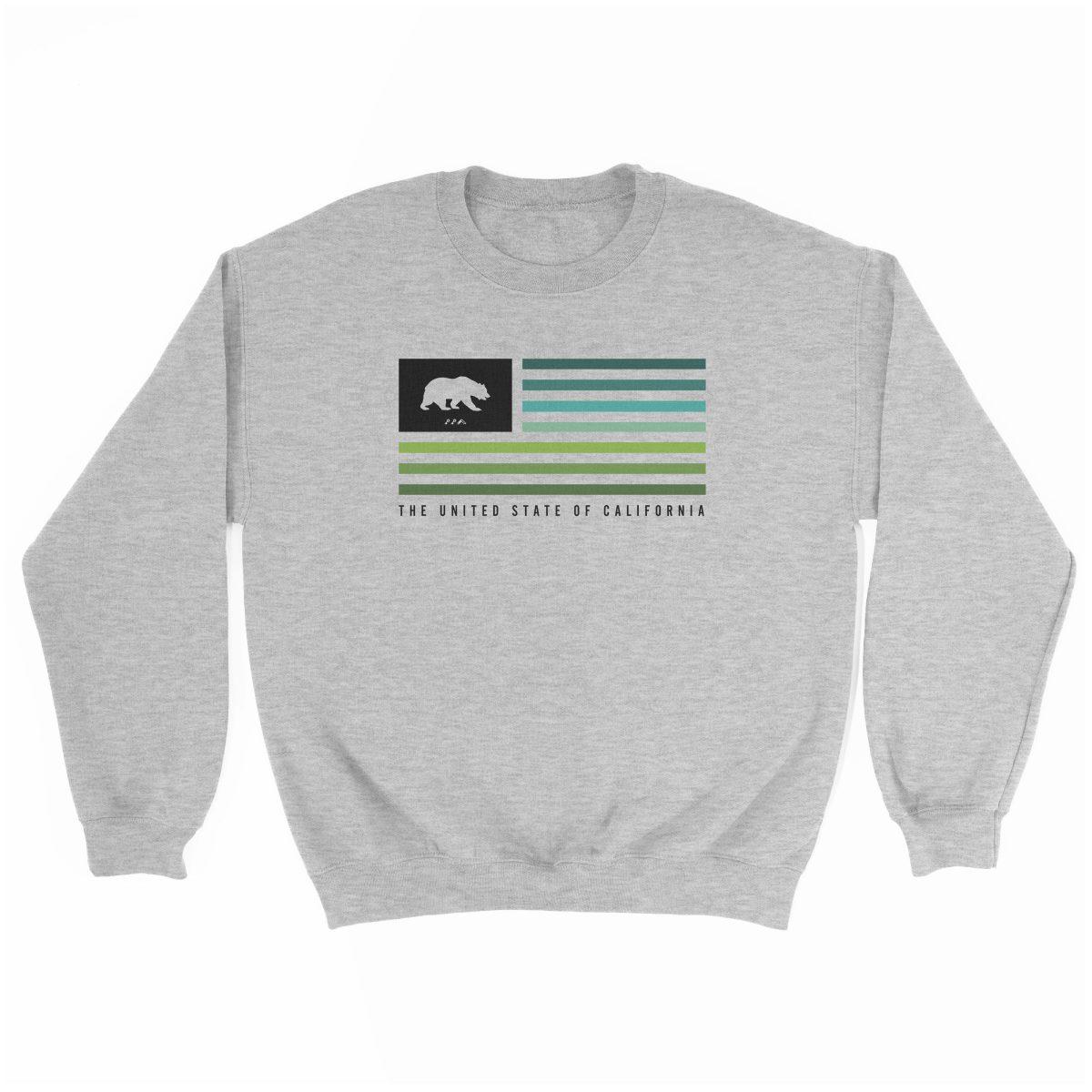 retro CALIFORNIA music festival cali summer beach sweatshirt in grey