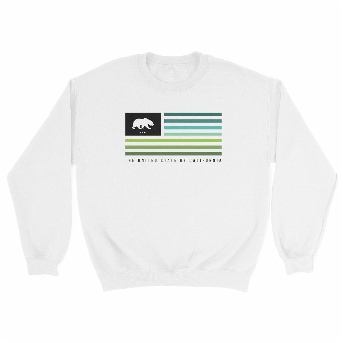 retro CALIFORNIA music festival cali summer beach sweatshirt in white