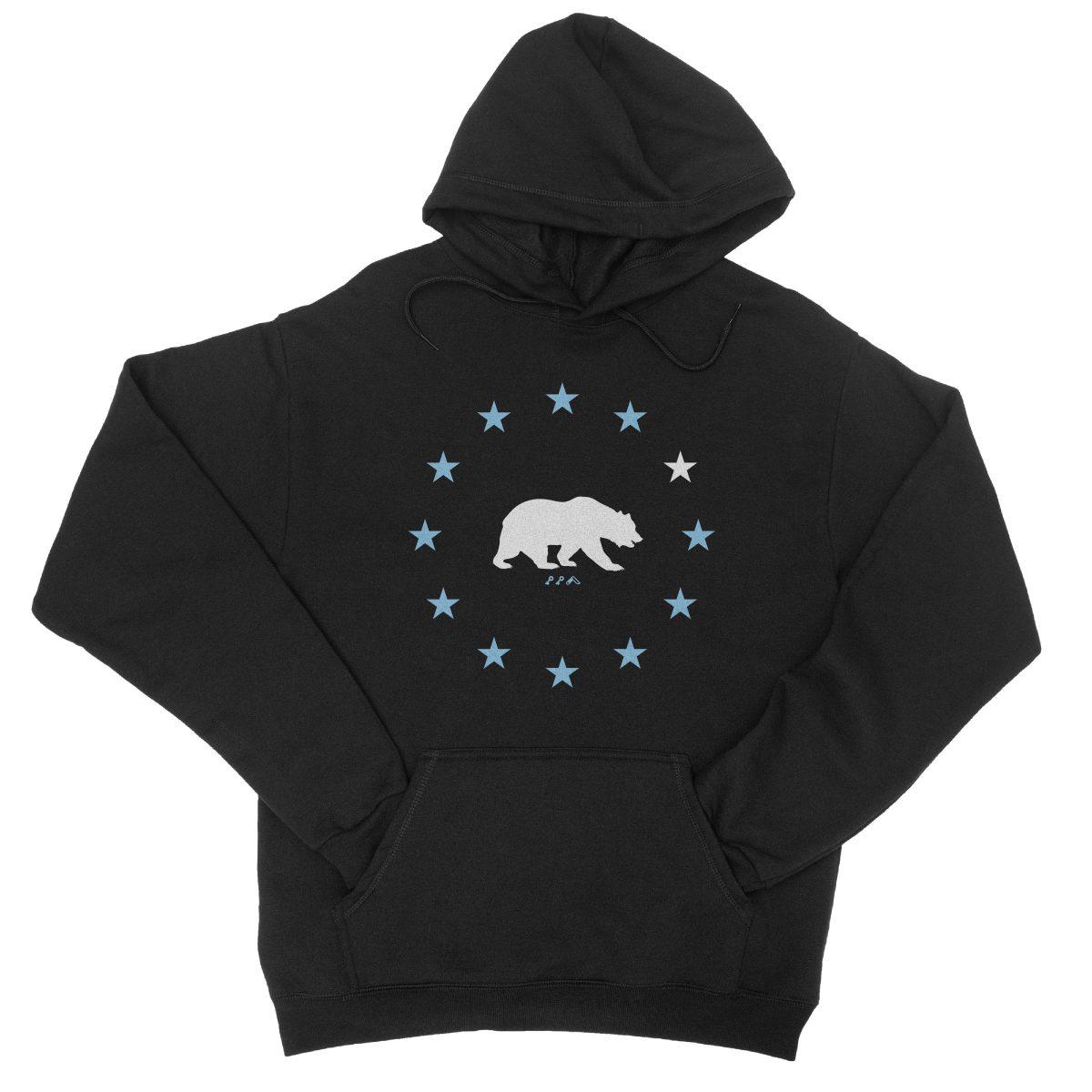 STAR GAZING california republic cali bear hoodie in black by kikicutt