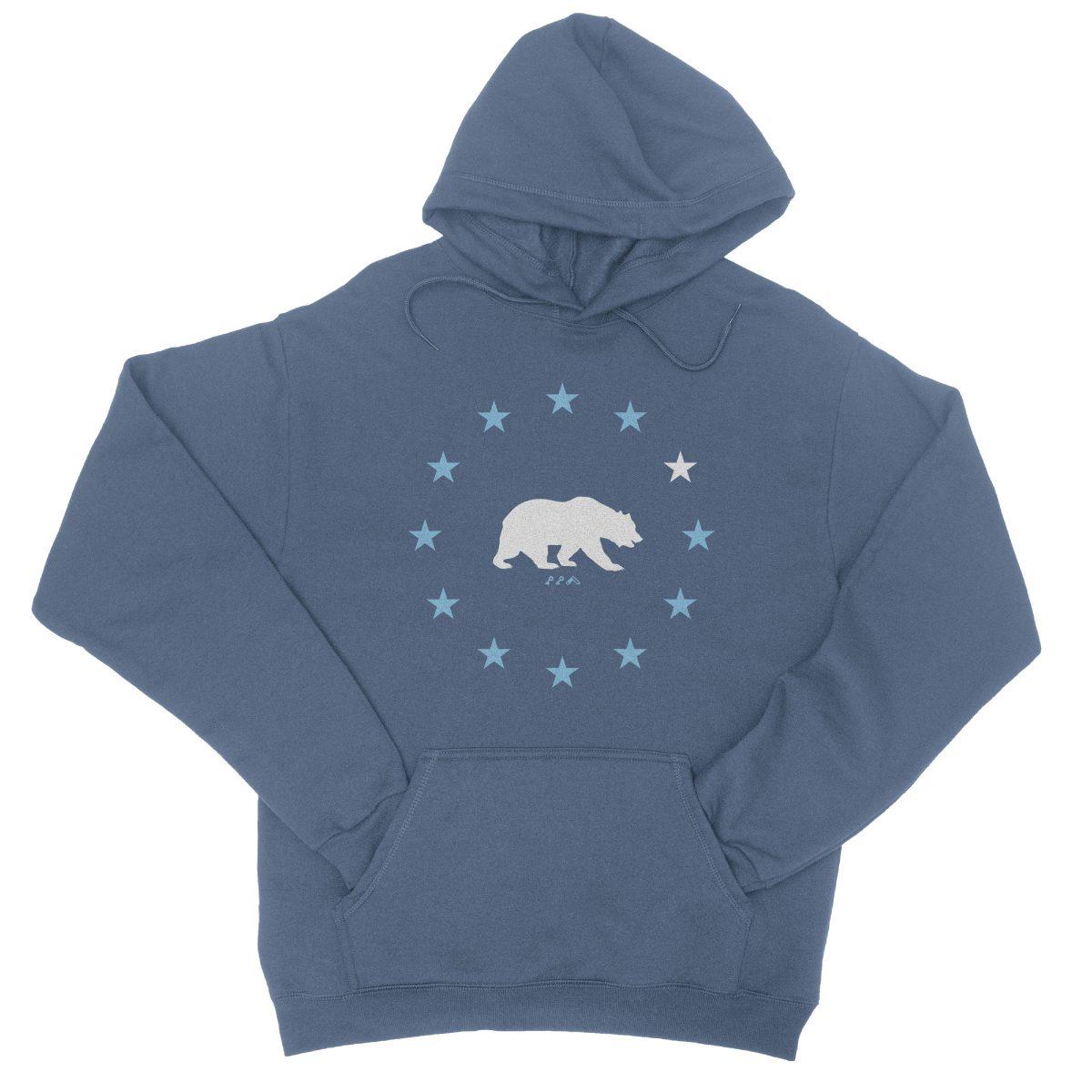 STAR GAZING california republic cali bear hoodie in indigo by kikicutt