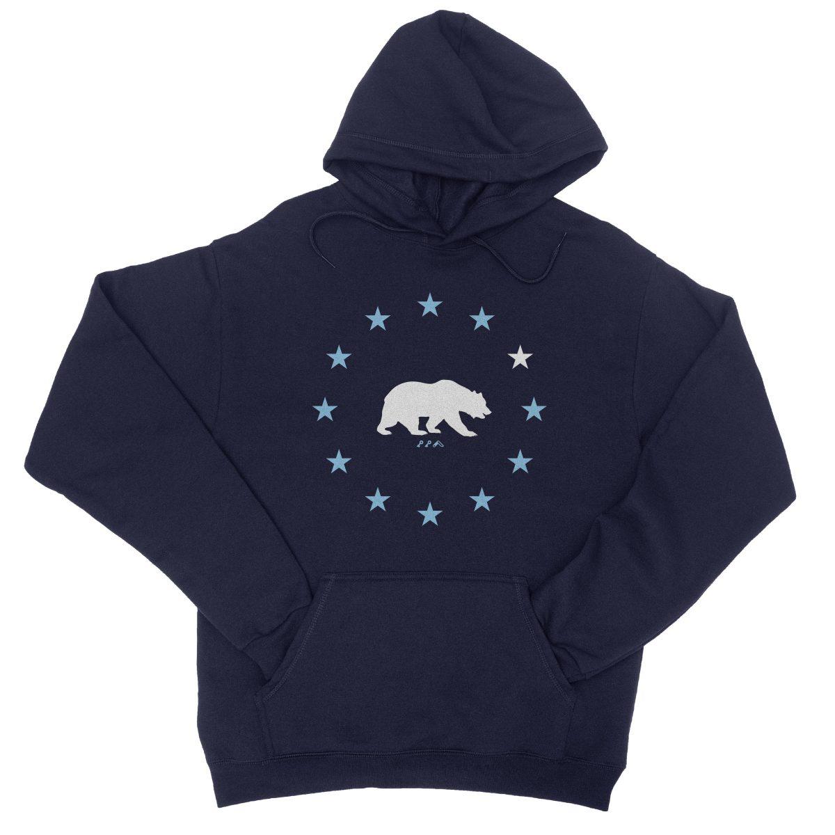 STAR GAZING california republic cali bear hoodie in navy by kikicutt