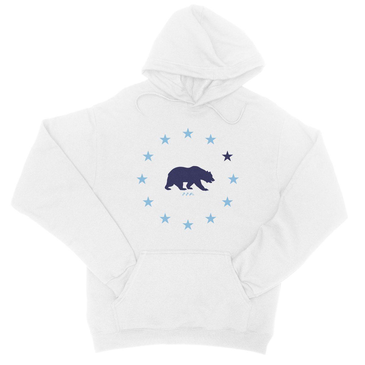 STAR GAZING california republic cali bear hoodie in white by kikicutt