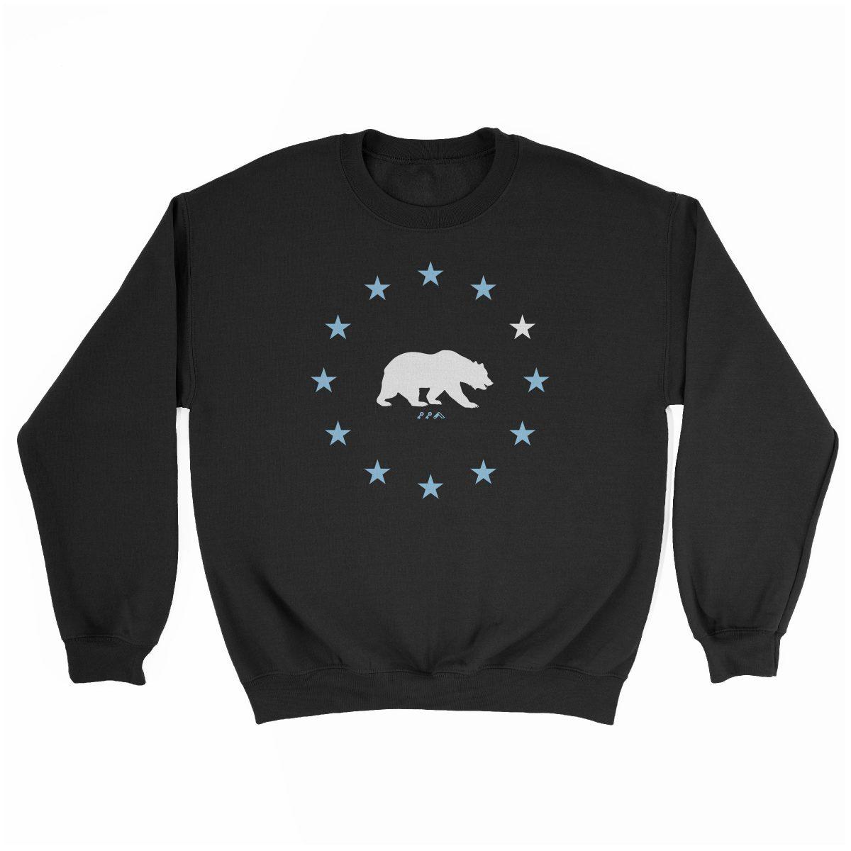 STAR GAZING cal bear california republic sweatshirt in black at kikicutt.com