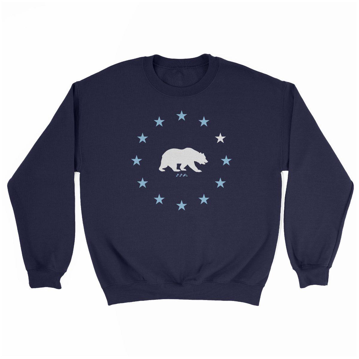 STAR GAZING cal bear california republic sweatshirt in navy at kikicutt.com