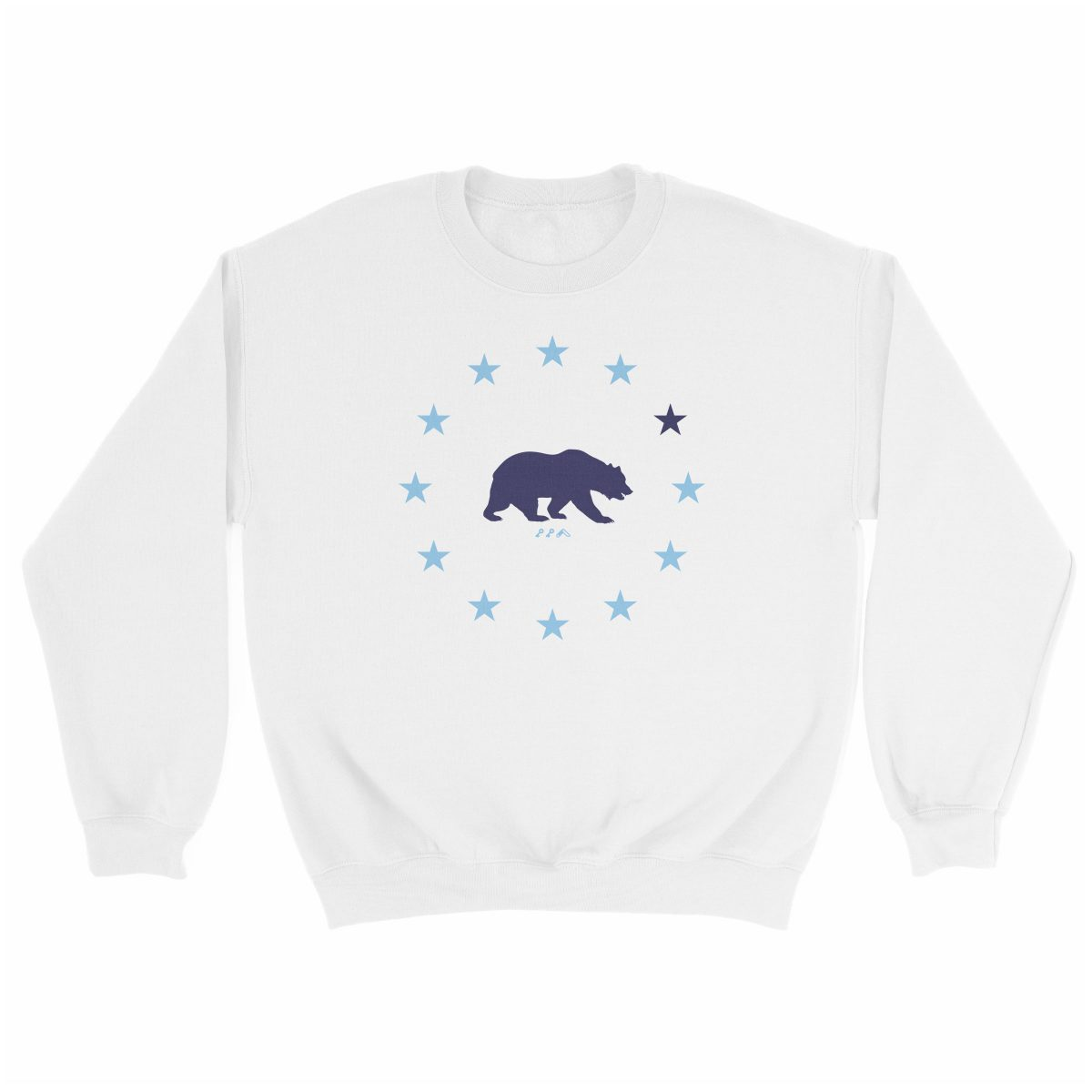 STAR GAZING cal bear california republic sweatshirt in white at kikicutt.com