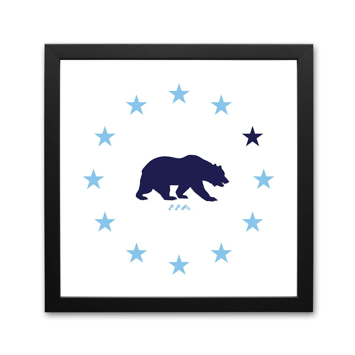 STAR GAZING cal bear california republic framed prints