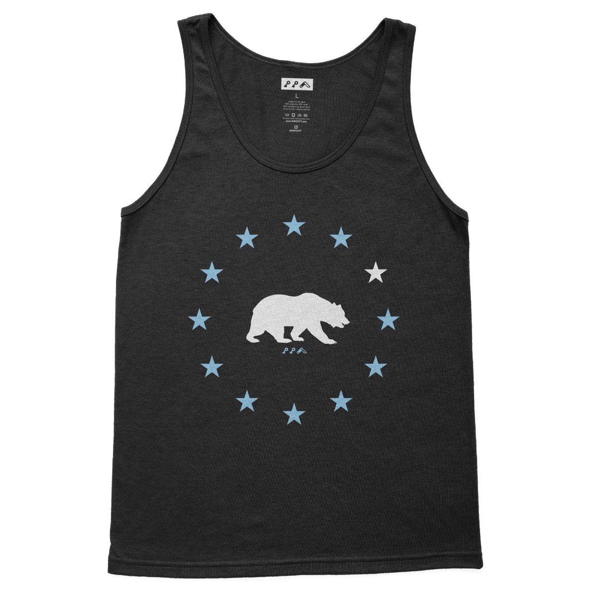 STAR GAZING california bear beach tank tops in charcoal black at kikicutt.com