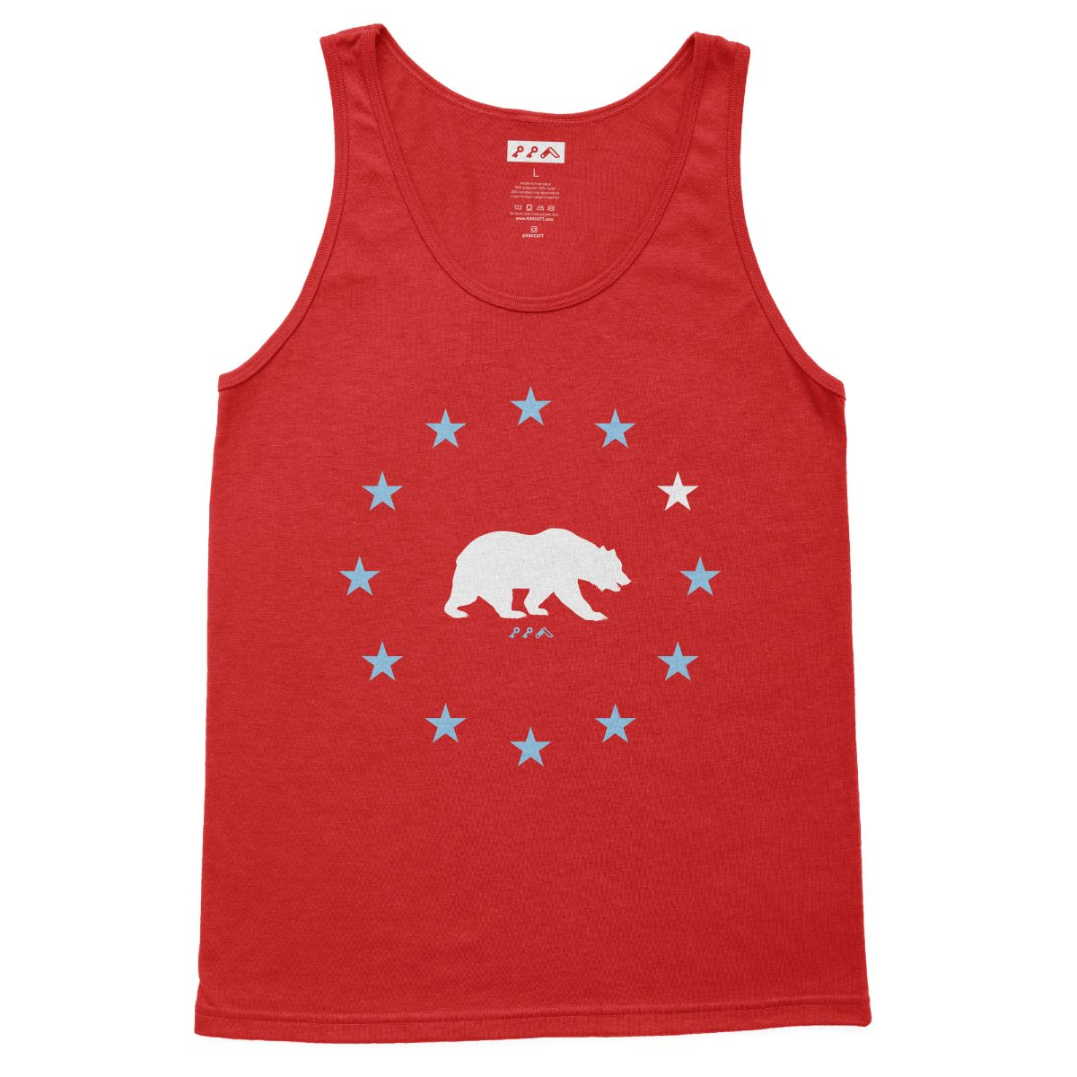 STAR GAZING california bear beach tank tops in red at kikicutt.com
