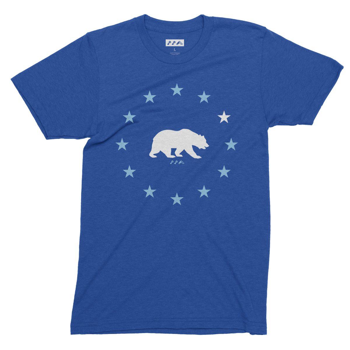 STAR GAZING california republic cal bears tees in dodger blue