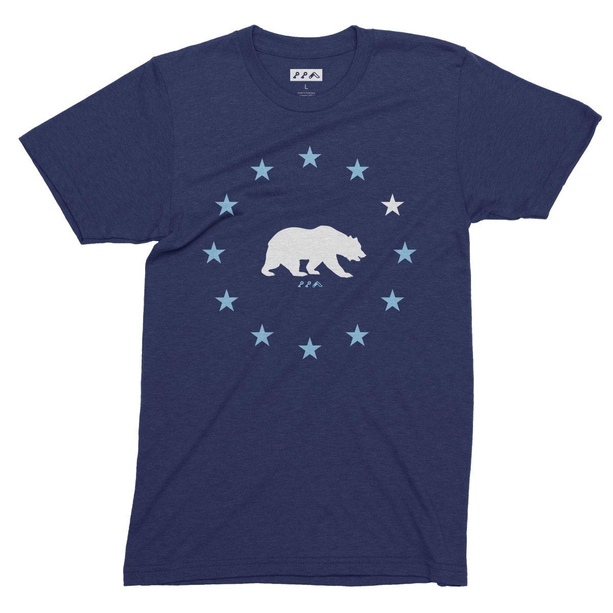 STAR GAZING california republic cal bears tees in navy