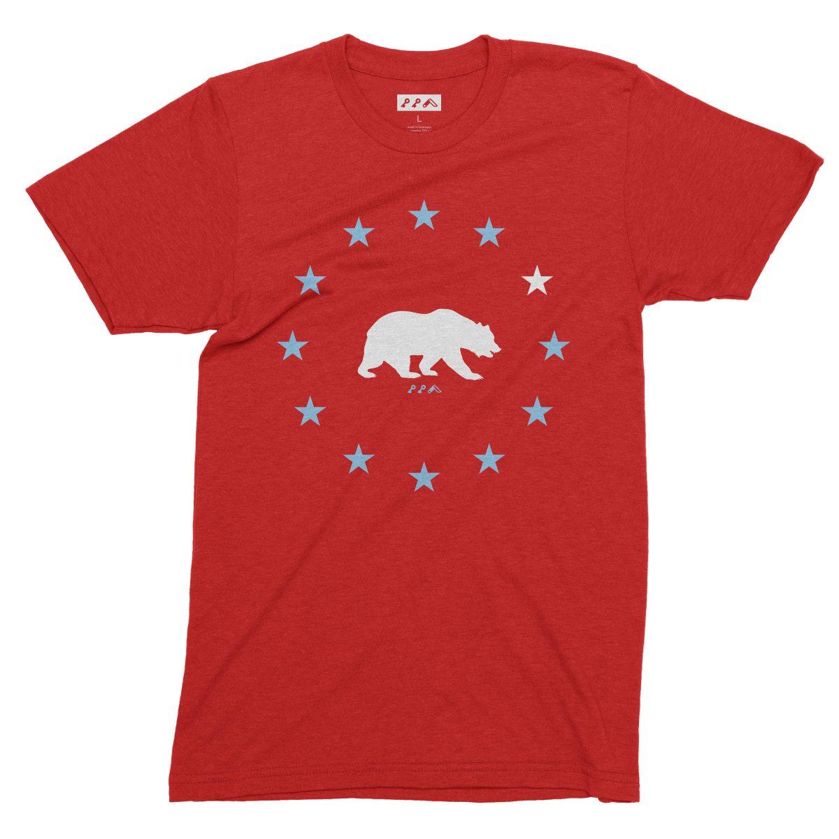 STAR GAZING california republic cal bears tees in red