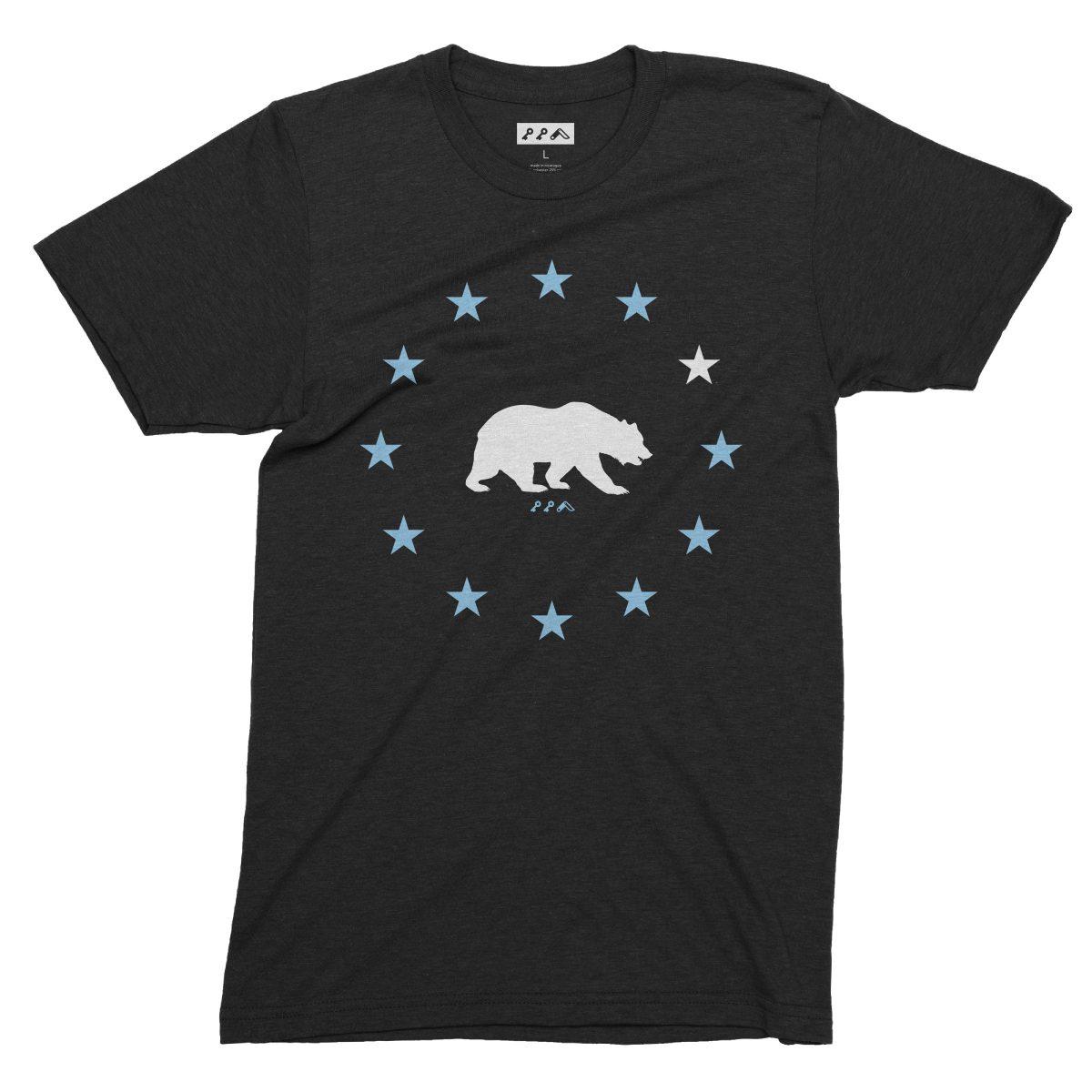STAR GAZING california republic cal bears tees in black