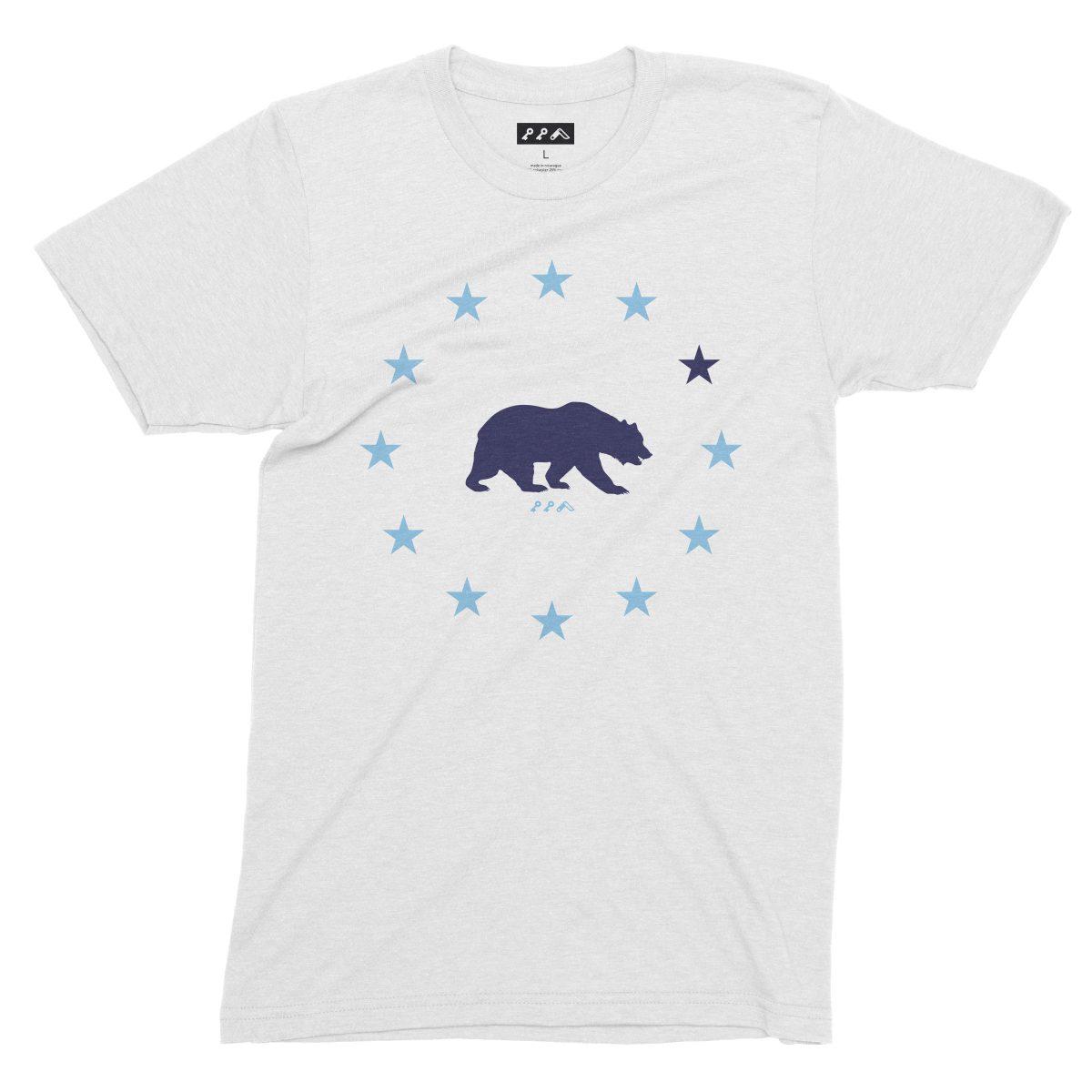 STAR GAZING california republic cal bears tees in white