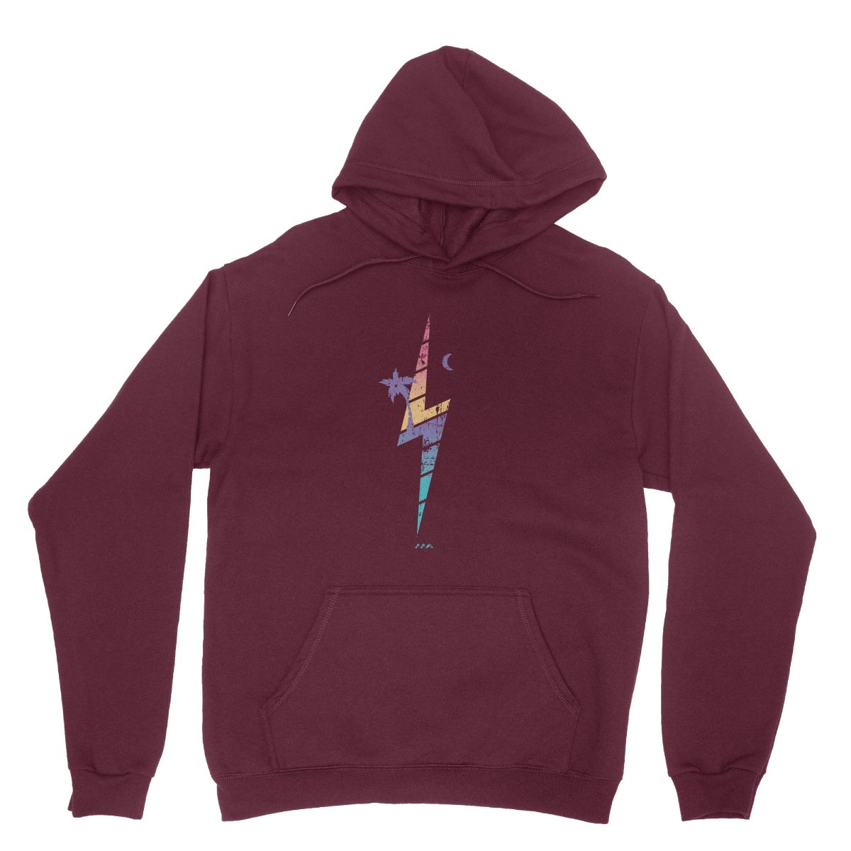 TROPIC THUNDER music festival soft beach hoodies in maroon at kikicutt.com