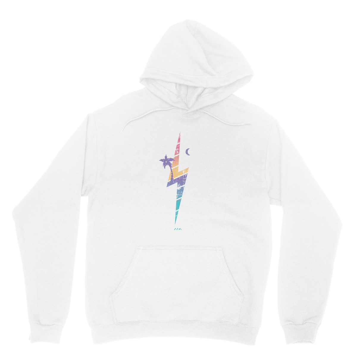 TROPIC THUNDER music festival soft beach hoodies in white at kikicutt.com