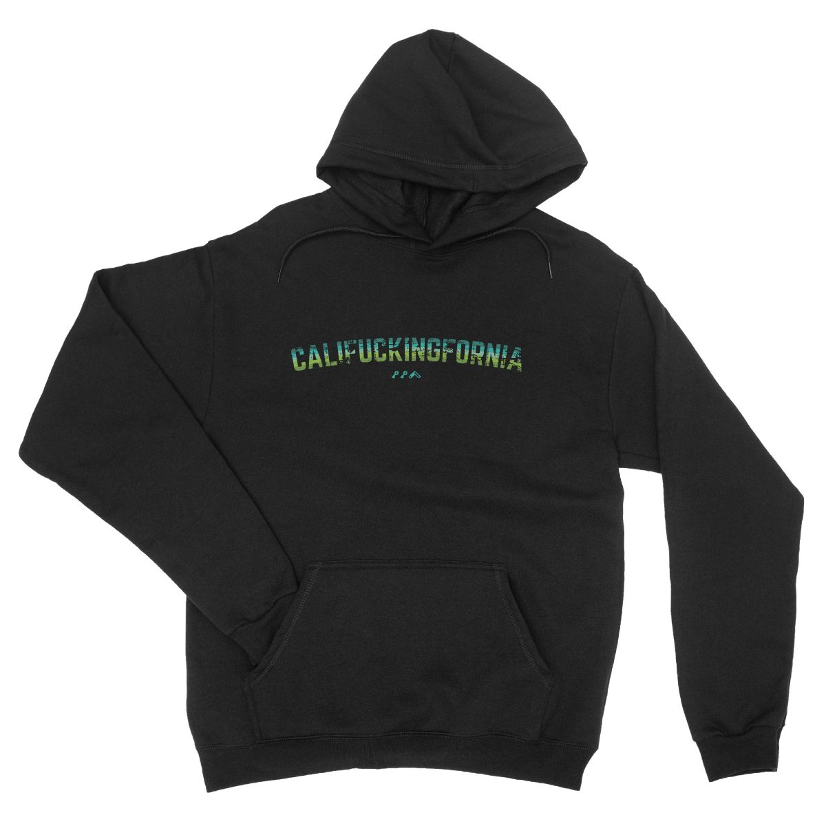califuckingfornia 90s design retro hoodie in black by kikicutt sweatshirt store