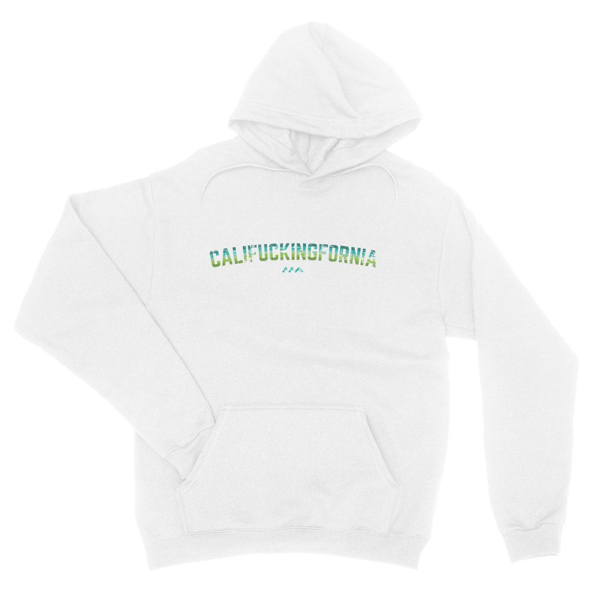 califuckingfornia 90s design retro hoodie in white by kikicutt sweatshirt store
