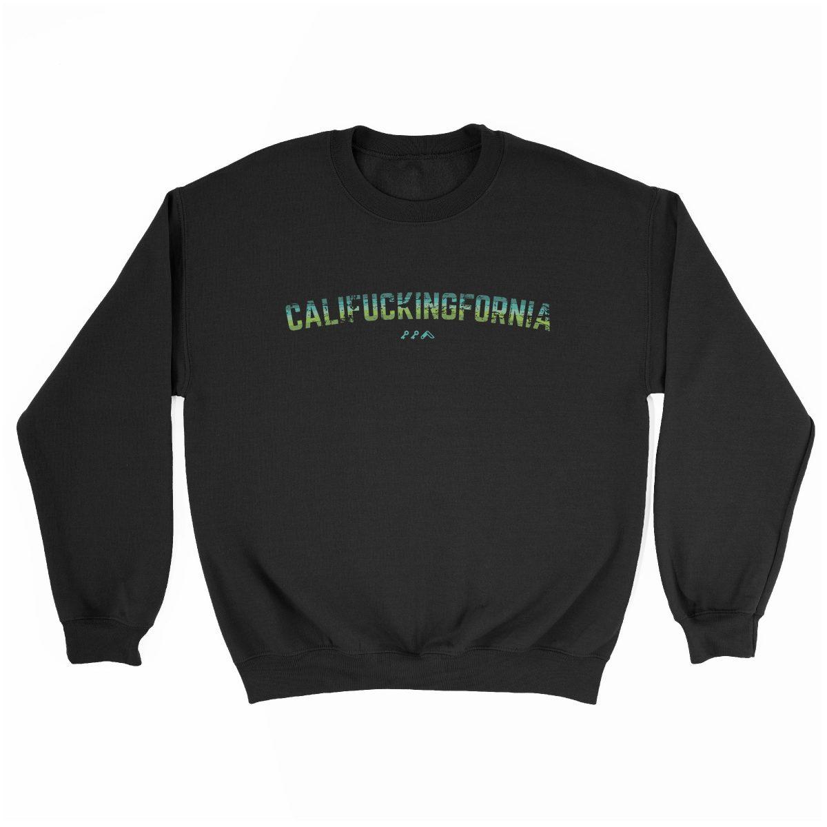 califuckingfornia 90s design retro sweatshirt in black by kikicutt sweatshirt store