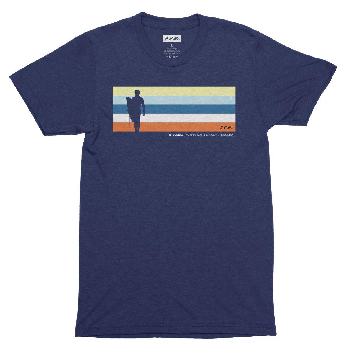 the bubble redondo hermosa manhattan beach shirts in navy blue by kikicutt surfer shirt store