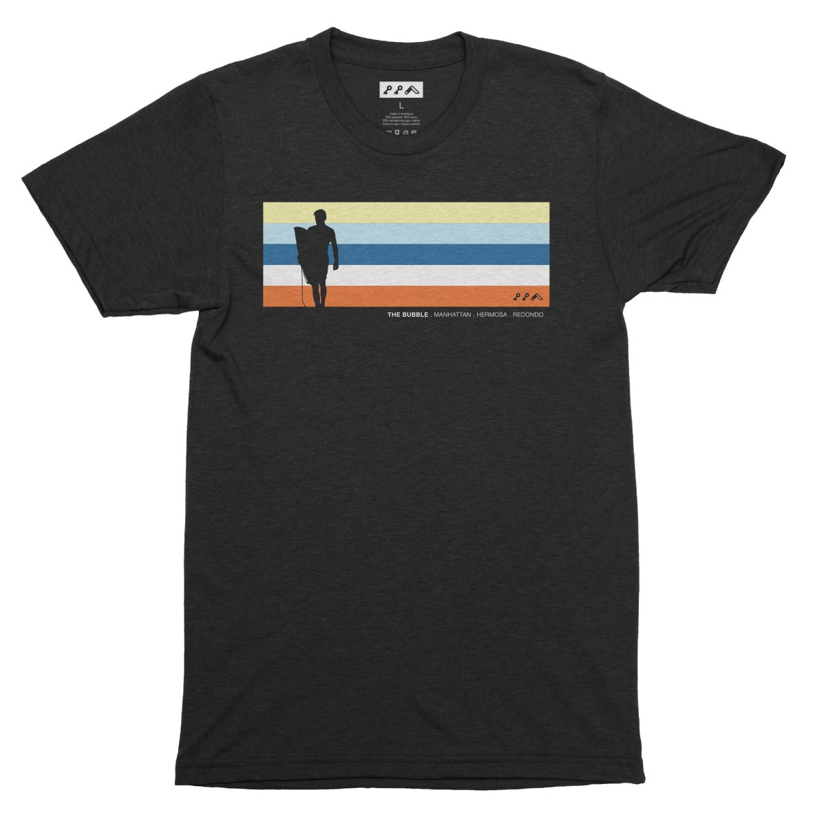 the bubble redondo hermosa manhattan beach shirts in solid black by kikicutt surfer shirt store