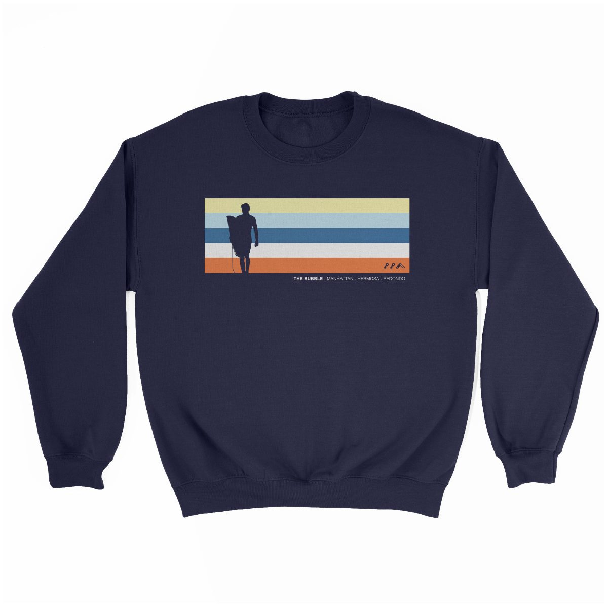 the bubble redondo hermosa manhattan beach sweatshirt in navy by kikicutt sweatshirt store