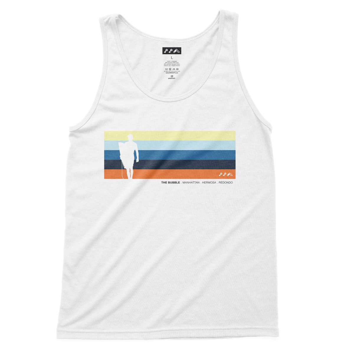 the bubble redondo hermosa manhattan beach tank tops in white at kikicutt.com