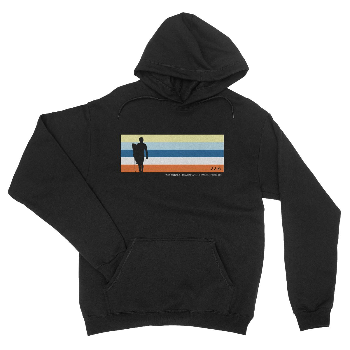 the bubble redondo hermosa manhattan beach hoodies in black by kikicutt sweatshirt store