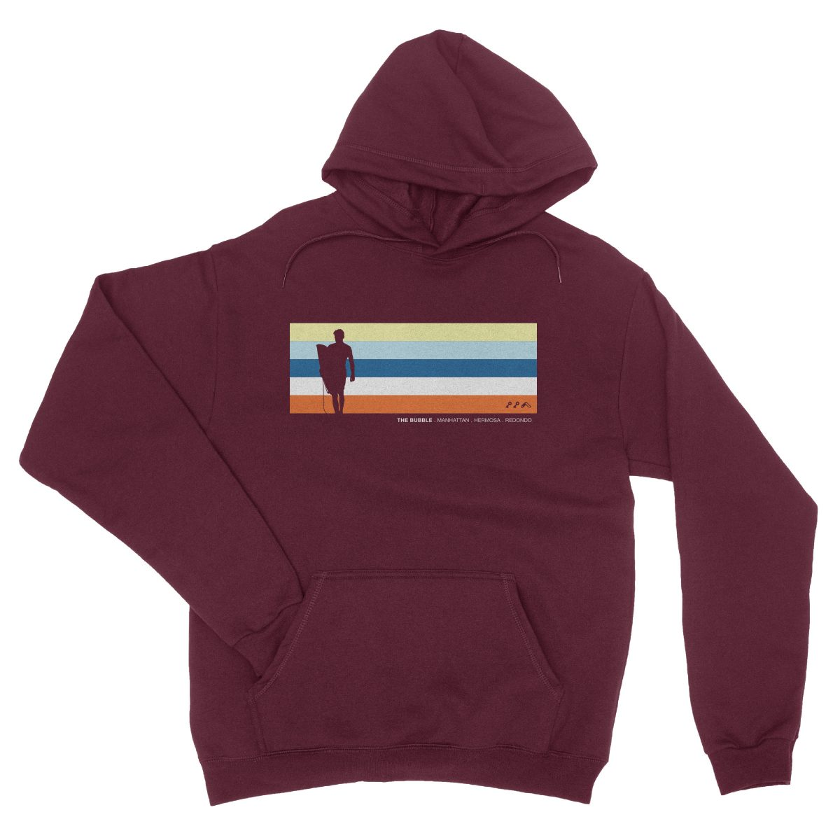 the bubble redondo hermosa manhattan beach hoodies in maroon by kikicutt sweatshirt store